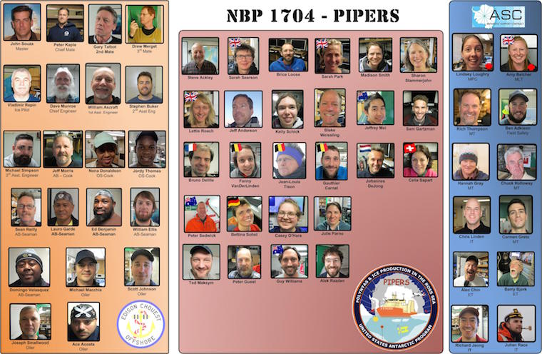 The PIPERS (NBP17-04) faceboard.